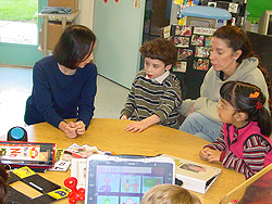 Sarah works with Classroom 2 students